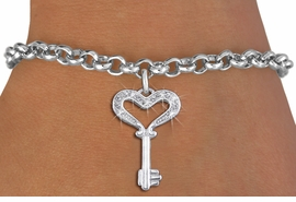 "<bR>               EXCLUSIVELY OURS!!<Br>         AN ALLAN ROBIN DESIGN!! <BR>CLICK HERE TO SEE 1000+ EXCITING <BR>   CHANGES THAT YOU CAN MAKE!<BR>   LEAD, NICKEL & CADMIUM FREE!! <BR>W1365SB - ""KEY TO MY HEART"" <BR>  CRYSTAL CHARM & BRACELET <BR>     FROM $5.40 TO $9.85 �2012"