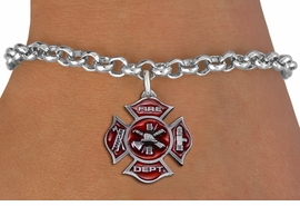 <bR>               EXCLUSIVELY OURS!!<Br>         AN ALLAN ROBIN DESIGN!! <BR>CLICK HERE TO SEE 1000+ EXCITING <BR>   CHANGES THAT YOU CAN MAKE!<BR>   LEAD, NICKEL & CADMIUM FREE!! <BR> W1380SB - 2 SIDED DETAILED FIRE DEPT <BR> MALTESE CROSS CHARM & BRACELET <BR>     FROM $5.15 TO $9.00 �2012