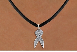 <bR>                  EXCLUSIVELY OURS!! <Br>              AN ALLAN ROBIN DESIGN!! <BR>     CLICK HERE TO SEE 1000+ EXCITING <BR>        CHANGES THAT YOU CAN MAKE! <BR>       LEAD, NICKEL & CADMIUM FREE!! <BR> W1386SN - CLEAR AWARENESS CRYSTAL <BR>     RIBBON CHARM AND NECKLACE <BR>           FROM $5.55 TO $9.00 �2013