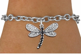 <bR>                EXCLUSIVELY OURS!! <Br>            AN ALLAN ROBIN DESIGN!! <BR>   CLICK HERE TO SEE 1000+ EXCITING <BR>      CHANGES THAT YOU CAN MAKE!<BR>      LEAD, NICKEL & CADMIUM FREE!! <BR> W1393SB - SILVER TONE AND JET CRYSTAL <BR>     DRAGONFLY CHARM & BRACELET <BR>        FROM $5.40 TO $9.85 �2013