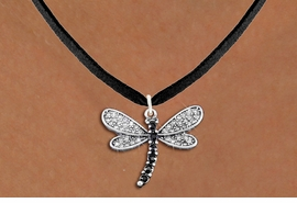 <bR>                   EXCLUSIVELY OURS!! <Br>               AN ALLAN ROBIN DESIGN!! <BR>      CLICK HERE TO SEE 1000+ EXCITING <BR>         CHANGES THAT YOU CAN MAKE! <BR>        LEAD, NICKEL & CADMIUM FREE!! <BR> W1393SN - SILVER TONE AND JET CRYSTAL <BR>    DRAGONFLY CHARM AND NECKLACE <BR>            FROM $5.40 TO $9.85 �2013