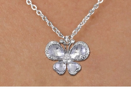<bR>                    EXCLUSIVELY OURS!! <Br>                AN ALLAN ROBIN DESIGN!! <BR>       CLICK HERE TO SEE 1000+ EXCITING <BR>          CHANGES THAT YOU CAN MAKE! <BR>         LEAD, NICKEL & CADMIUM FREE!! <BR>  W1396SN - SILVER TONE AND CLEAR <BR> CRYSTAL BUTTERFLY CHARM AND NECKLACE <BR>             FROM $5.40 TO $9.85 �2013