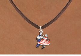 <bR>               EXCLUSIVELY OURS!!<BR>         AN ALLAN ROBIN DESIGN!!<BR>CLICK HERE TO SEE 1000+ EXCITING<BR>   CHANGES THAT YOU CAN MAKE!<BR>                LEAD & NICKEL FREE!! <BR>W1300SN -  SILVER TONE HAND PAINTED <Br>SQUARE DANCE DANCERS CHARM & NECKLACE <BR>      FROM $4.50 TO $8.35 �2012