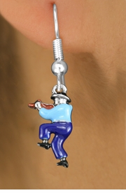 <bR>               EXCLUSIVELY OURS!!<BR>         AN ALLAN ROBIN DESIGN!!<BR>CLICK HERE TO SEE 1000+ EXCITING<BR>   CHANGES THAT YOU CAN MAKE!<BR>                  LEAD & NICKEL FREE!! <BR>W1301SE -  SILVER TONE HAND PAINTED <BR>SQUARE DANCE FIDDLER CHARM EARRINGS  <BR>      FROM $4.50 TO $8.35 �2012
