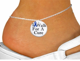 "<bR>                  EXCLUSIVELY OURS!!<BR>            AN ALLAN ROBIN DESIGN!!<BR>    CLICK HERE TO SEE 1000+ EXCITING<BR>       CHANGES THAT YOU CAN MAKE!<BR>                LEAD & NICKEL FREE!! <BR>W1305SAK - BLUE RIBBON AWARENESS <BR>""I WALK FOR A CURE"" CHARM & ANKLET <BR>          FROM $3.35 TO $8.00 �2012"