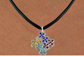 <bR>                      EXCLUSIVELY OURS!!<Br>                AN ALLAN ROBIN DESIGN!!<BR>       CLICK HERE TO SEE 120+ EXCITING<BR>          CHANGES THAT YOU CAN MAKE!<BR>       LEAD, NICKEL & CADMIUM FREE!!<BR>W1127SN - CRYSTAL AUTISM PUZZLE CHARM<BR> & NECKLACE FROM $5.40 TO $9.85 �2011