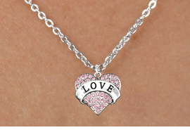"<bR>              EXCLUSIVELY OURS!!<Br>        AN ALLAN ROBIN DESIGN!!<BR>CLICK HERE TO SEE 120+ EXCITING<BR>   CHANGES THAT YOU CAN MAKE!<BR>  LEAD, NICKEL & CADMIUM FREE!!<BR>W1137SN - ROSE CRYSTAL ""LOVE"" <BR>HEART CHARM & CHILDS NECKLACE <BR>     FROM $5.40 TO $9.85 �2012"