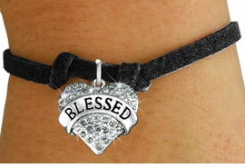 "<bR>                   EXCLUSIVELY OURS!!<Br>             AN ALLAN ROBIN DESIGN!!<BR>    CLICK HERE TO SEE 120+ EXCITING<BR>       CHANGES THAT YOU CAN MAKE!<BR>       LEAD, NICKEL & CADMIUM FREE!!<BR>W1211SB - SMOKY CRYSTAL ""BLESSED""<BR>    HEART CHARM & CHILDS BRACELET<BR>           FROM $5.40 TO $9.85 �2012"