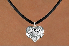 "<bR>                   EXCLUSIVELY OURS!!<Br>             AN ALLAN ROBIN DESIGN!!<BR>    CLICK HERE TO SEE 120+ EXCITING<BR>       CHANGES THAT YOU CAN MAKE!<BR>     LEAD, NICKEL & CADMIUM FREE!!<BR>W1211SN - SMOKY CRYSTAL ""BLESSED"" <BR>            HEART CHARM & NECKLACE <BR>          FROM $5.40 TO $9.85 �2012"