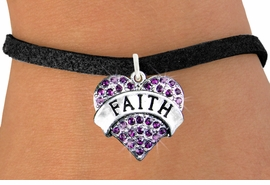 "<bR>                 EXCLUSIVELY OURS!!<Br>           AN ALLAN ROBIN DESIGN!!<BR>  CLICK HERE TO SEE 120+ EXCITING<BR>     CHANGES THAT YOU CAN MAKE!<BR>     LEAD, NICKEL & CADMIUM FREE!!<BR>W1212SB - PURPLE CRYSTAL ""FAITH""<BR>           HEART CHARM & BRACELET<BR>         FROM $5.40 TO $9.85 �2012"