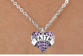 "<bR>                 EXCLUSIVELY OURS!!<Br>           AN ALLAN ROBIN DESIGN!! <BR>  CLICK HERE TO SEE 120+ EXCITING<BR>     CHANGES THAT YOU CAN MAKE!<BR>    LEAD, NICKEL & CADMIUM FREE!!<BR>W1212SN - PURPLE CRYSTAL ""FAITH"" <BR> HEART CHARM & CHILDS NECKLACE <BR>         FROM $5.40 TO $9.85 �2012"