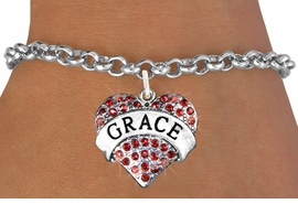 "<bR>               EXCLUSIVELY OURS!!<Br>         AN ALLAN ROBIN DESIGN!!<BR>CLICK HERE TO SEE 120+ EXCITING<BR>   CHANGES THAT YOU CAN MAKE!<BR>   LEAD, NICKEL & CADMIUM FREE!!<BR>W1213SB - RED CRYSTAL ""GRACE"" <BR>       HEART CHARM & BRACELET <BR>     FROM $5.40 TO $9.85 �2012"