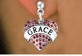 "<bR>               EXCLUSIVELY OURS!!<Br>         AN ALLAN ROBIN DESIGN!! <BR>CLICK HERE TO SEE 120+ EXCITING<BR>   CHANGES THAT YOU CAN MAKE!<BR>   LEAD, NICKEL & CADMIUM FREE!!<BR>W1213SE - RED CRYSTAL ""GRACE"" <BR>       HEART CHARM EARRINGS <BR>    FROM $4.95 TO $10.00 �2012"