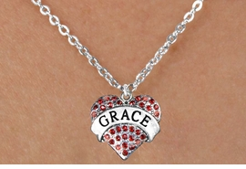"<bR>               EXCLUSIVELY OURS!!<Br>         AN ALLAN ROBIN DESIGN!!<BR>CLICK HERE TO SEE 120+ EXCITING<BR>   CHANGES THAT YOU CAN MAKE!<BR>   LEAD, NICKEL & CADMIUM FREE!!<BR>W1213SN - RED CRYSTAL ""GRACE""<BR>HEART CHARM & CHILDS NECKLACE <BR>      FROM $5.40 TO $9.85 �2012"