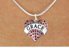 "<bR>               EXCLUSIVELY OURS!!<Br>         AN ALLAN ROBIN DESIGN!!<BR>CLICK HERE TO SEE 120+ EXCITING<BR>   CHANGES THAT YOU CAN MAKE!<BR>   LEAD, NICKEL & CADMIUM FREE!!<BR>W1213SN - RED CRYSTAL ""GRACE""<BR>       HEART CHARM & NECKLACE <BR>      FROM $5.40 TO $9.85 �2012"
