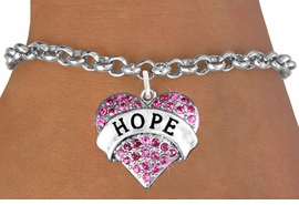 "<bR>                   EXCLUSIVELY OURS!!<Br>             AN ALLAN ROBIN DESIGN!!<BR>    CLICK HERE TO SEE 120+ EXCITING<BR>       CHANGES THAT YOU CAN MAKE!<BR>       LEAD, NICKEL & CADMIUM FREE!!<BR>W1214SB - FUCHSIA CRYSTAL ""HOPE"" <BR>           HEART CHARM & BRACELET <BR>          FROM $5.40 TO $9.85 �2012"