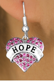 "<bR>                 EXCLUSIVELY OURS!!<Br>           AN ALLAN ROBIN DESIGN!!<BR>  CLICK HERE TO SEE 120+ EXCITING<BR>     CHANGES THAT YOU CAN MAKE!<BR>     LEAD, NICKEL & CADMIUM FREE!!<BR>W1214SE - FUCHSIA CRYSTAL ""HOPE"" <BR>            HEART CHARM EARRINGS <BR>      FROM $4.95 TO $10.00 �2012"