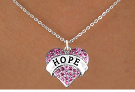 "<bR>                EXCLUSIVELY OURS!!<Br>          AN ALLAN ROBIN DESIGN!! <BR> CLICK HERE TO SEE 120+ EXCITING<BR>    CHANGES THAT YOU CAN MAKE!<BR>   LEAD, NICKEL & CADMIUM FREE!!<BR>W1214SN - FUCHSIA CRYSTAL ""HOPE"" <BR>         HEART CHARM & NECKLACE <BR>        FROM $5.40 TO $9.85 �2012"