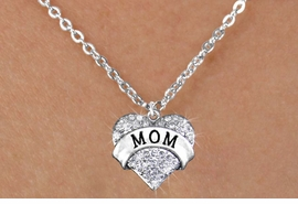 "<bR>                  EXCLUSIVELY OURS!!<Br>            AN ALLAN ROBIN DESIGN!!<BR>   CLICK HERE TO SEE 120+ EXCITING<BR>      CHANGES THAT YOU CAN MAKE!<BR>     LEAD, NICKEL & CADMIUM FREE!!<BR>W1215SN - AUSTRIAN CRYSTAL ""MOM"" <BR>  HEART CHARM & CHILDS NECKLACE <BR>         FROM $5.40 TO $9.85 �2012"