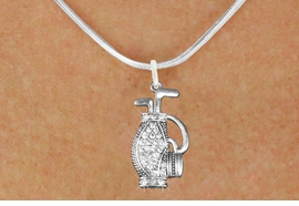 <bR>                      EXCLUSIVELY OURS!!<Br>                AN ALLAN ROBIN DESIGN!!<BR>       CLICK HERE TO SEE 120+ EXCITING<BR>          CHANGES THAT YOU CAN MAKE!<BR>           LEAD, NICKEL & CADMIUM FREE!!<BR>W1216SN - CRYSTAL GOLF BAG CHARM<BR> & NECKLACE FROM $5.40 TO $9.85 �2012