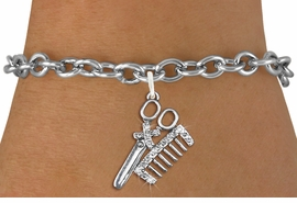 <bR>                   EXCLUSIVELY OURS!!<Br>             AN ALLAN ROBIN DESIGN!!<BR>    CLICK HERE TO SEE 120+ EXCITING<BR>       CHANGES THAT YOU CAN MAKE!<BR>       LEAD, NICKEL & CADMIUM FREE!!<BR>W1251SB - CRYSTAL SCISSORS & COMB <BR> SILVER TONE CHARM & BRACELET <BR>           FROM $5.40 TO $9.85 �2012