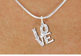 "<bR>                  EXCLUSIVELY OURS!!<Br>            AN ALLAN ROBIN DESIGN!!<BR>   CLICK HERE TO SEE 120+ EXCITING<BR>      CHANGES THAT YOU CAN MAKE!<BR>     LEAD, NICKEL & CADMIUM FREE!!<BR>        W1273SN - BEAUTIFUL ""LOVE"" <BR>      CRYSTAL CHARM AND NECKLACE <BR>         FROM $5.40 TO $9.85 �2012"