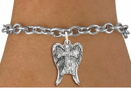 <bR>               EXCLUSIVELY OURS!!<Br>         AN ALLAN ROBIN DESIGN!! <BR>CLICK HERE TO SEE 120+ EXCITING <BR>   CHANGES THAT YOU CAN MAKE!<BR>   LEAD, NICKEL & CADMIUM FREE!! <BR> W1282SB - CROSS WITH ANGEL WINGS <BR>     CRYSTAL CHARM & BRACELET <BR>     FROM $5.40 TO $9.85 �2012