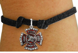 <bR>               EXCLUSIVELY OURS!!<Br>         AN ALLAN ROBIN DESIGN!! <BR>CLICK HERE TO SEE 120+ EXCITING <BR>   CHANGES THAT YOU CAN MAKE!<BR>   LEAD, NICKEL & CADMIUM FREE!! <BR> W1284SB - FIRE DEPARTMENT SHIELD <BR>CRYSTAL CHARM & CHILDS BRACELET <BR>     FROM $5.40 TO $9.85 �2012