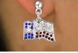 <bR>                 EXCLUSIVELY OURS!!<Br>           AN ALLAN ROBIN DESIGN!!<BR>  CLICK HERE TO SEE 120+ EXCITING<BR>     CHANGES THAT YOU CAN MAKE!<BR>     LEAD, NICKEL & CADMIUM FREE!!<BR> W1302SE - TEXAS STATE FLAG  <BR>      CRYSTAL CHARM EARRINGS <BR>       FROM $4.95 TO $10.00 �2012