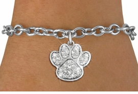 <bR>               EXCLUSIVELY OURS!!<Br>         AN ALLAN ROBIN DESIGN!! <BR>CLICK HERE TO SEE 120+ EXCITING <BR>   CHANGES THAT YOU CAN MAKE!<BR>   LEAD, NICKEL & CADMIUM FREE!! <BR> W1306B5 - BEAUTIFUL PAW PRINT <BR>     CRYSTAL CHARM & BRACELET <BR>     FROM $5.40 TO $9.85 �2012