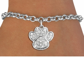 <bR>               EXCLUSIVELY OURS!!<Br>         AN ALLAN ROBIN DESIGN!! <BR>CLICK HERE TO SEE 120+ EXCITING <BR>   CHANGES THAT YOU CAN MAKE!<BR>   LEAD, NICKEL & CADMIUM FREE!! <BR> W1306B2 - BEAUTIFUL PAW PRINT <BR>     CRYSTAL CHARM & BRACELET <BR>     FROM $5.40 TO $9.85 �2012