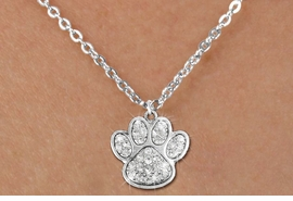 <bR>                  EXCLUSIVELY OURS!!<Br>            AN ALLAN ROBIN DESIGN!!<BR>   CLICK HERE TO SEE 120+ EXCITING<BR>      CHANGES THAT YOU CAN MAKE!<BR>     LEAD, NICKEL & CADMIUM FREE!!<BR> W1306SN - BEAUTIFUL PAW PRINT <BR>CRYSTAL CHARM AND CHILDS NECKLACE <BR>         FROM $5.40 TO $9.85 �2012