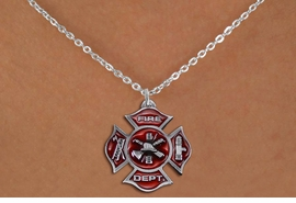 <bR>                  EXCLUSIVELY OURS!!<Br>            AN ALLAN ROBIN DESIGN!!<BR>   CLICK HERE TO SEE 120+ EXCITING<BR>      CHANGES THAT YOU CAN MAKE!<BR>     LEAD, NICKEL & CADMIUM FREE!!<BR>W1380SN - 2 SIDED DETAILED FIRE DEPT <BR> MALTESE CROSS CHARM NECKLACE <BR>         FROM $5.55 TO $9.00 �2012