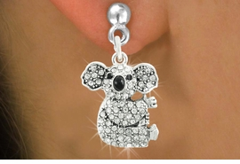 <bR>                   EXCLUSIVELY OURS!!<Br>             AN ALLAN ROBIN DESIGN!!<BR>    CLICK HERE TO SEE 120+ EXCITING<BR>       CHANGES THAT YOU CAN MAKE!<BR>                  LEAD & NICKEL FREE!!<BR>W1076SE - PAVE CRYSTAL KOALA CHARM<BR> EARRINGS FROM $4.95 TO $10.00 �2011