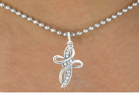 <bR>                      EXCLUSIVELY OURS!!<Br>                AN ALLAN ROBIN DESIGN!!<BR>       CLICK HERE TO SEE 120+ EXCITING<BR>          CHANGES THAT YOU CAN MAKE!<BR>                     LEAD & NICKEL FREE!!<BR>     W1077SN - CRYSTAL CROSS CHARM &<BR>   NECKLACE FROM $5.40 TO $9.85 �2011