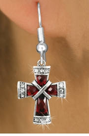 <bR>                   EXCLUSIVELY OURS!!<Br>             AN ALLAN ROBIN DESIGN!!<BR>    CLICK HERE TO SEE 120+ EXCITING<BR>       CHANGES THAT YOU CAN MAKE!<BR>                  LEAD & NICKEL FREE!!<BR>W1083SE - RUBY CRYSTAL CROSS CHARM<BR> EARRINGS FROM $4.95 TO $10.00 �2011