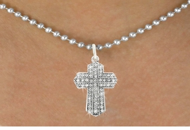 <bR>                      EXCLUSIVELY OURS!!<Br>                AN ALLAN ROBIN DESIGN!!<BR>       CLICK HERE TO SEE 120+ EXCITING<BR>          CHANGES THAT YOU CAN MAKE!<BR>                     LEAD & NICKEL FREE!!<BR>W1085SN - PAVE CRYSTAL CROSS CHARM<BR> & NECKLACE FROM $5.40 TO $9.85 �2011