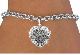 <bR>                   EXCLUSIVELY OURS!!<Br>             AN ALLAN ROBIN DESIGN!!<BR>    CLICK HERE TO SEE 120+ EXCITING<BR>       CHANGES THAT YOU CAN MAKE!<BR>                  LEAD & NICKEL FREE!!<BR>W1086SB - COWGIRL HEART CHARM &<Br>BRACELET FROM $5.15 TO $9.00 �2011