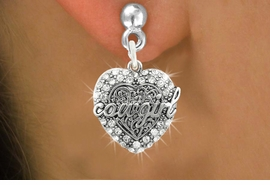 <bR>                   EXCLUSIVELY OURS!!<Br>             AN ALLAN ROBIN DESIGN!!<BR>    CLICK HERE TO SEE 120+ EXCITING<BR>       CHANGES THAT YOU CAN MAKE!<BR>                  LEAD & NICKEL FREE!!<BR>     W1086SE - COWGIRL HEART CHARM<BR> EARRINGS FROM $4.95 TO $10.00 �2011