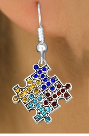 <bR>                   EXCLUSIVELY OURS!!<Br>             AN ALLAN ROBIN DESIGN!!<BR>    CLICK HERE TO SEE 120+ EXCITING<BR>       CHANGES THAT YOU CAN MAKE!<BR>                  LEAD & NICKEL FREE!!<BR>W1127SE - CRYSTAL AUTISM PUZZLE CHARM<BR> EARRINGS FROM $4.95 TO $10.00 �2011