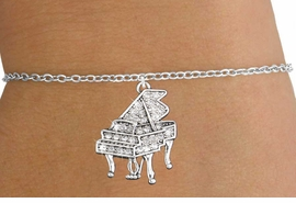 <bR>                   EXCLUSIVELY OURS!!<Br>             AN ALLAN ROBIN DESIGN!!<BR>    CLICK HERE TO SEE 120+ EXCITING<BR>       CHANGES THAT YOU CAN MAKE!<BR>                  LEAD & NICKEL FREE!!<BR>W1170SB - CRYSTAL GRAND PIANO CHARM <Br>& CHILDRENS BRACELET FROM $5.40 TO $9.85 �2012