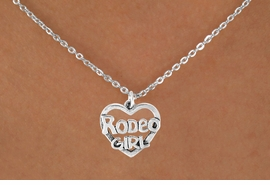<bR>               EXCLUSIVELY OURS!!<Br>         AN ALLAN ROBIN DESIGN!!<BR>CLICK HERE TO SEE 120+ EXCITING<BR>   CHANGES THAT YOU CAN MAKE!<BR>              LEAD & NICKEL FREE!!<BR>     W607SN - RODEO GIRL HEART<BR>     & NECKLACE AS LOW AS $4.50