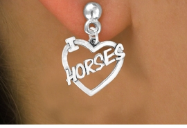 "<bR>               EXCLUSIVELY OURS!!<Br>         AN ALLAN ROBIN DESIGN!!<BR>CLICK HERE TO SEE 120+ EXCITING<BR>   CHANGES THAT YOU CAN MAKE!<BR>              LEAD & NICKEL FREE!!<BR>        W608SE - ""I LOVE HORSES""<Br>     & EARRINGS FROM $4.50 TO $8.35"