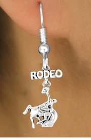 <bR>                EXCLUSIVELY OURS!!<Br>          AN ALLAN ROBIN DESIGN!!<BR> CLICK HERE TO SEE 120+ EXCITING<BR>    CHANGES THAT YOU CAN MAKE!<BR>               LEAD & NICKEL FREE!!<BR>W609SE - RODEO BUCKIN BRONCO<Br>      & EARRINGS FROM $4.50 TO $8.35