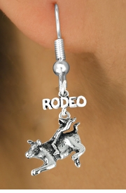 "<bR>               EXCLUSIVELY OURS!!<Br>         AN ALLAN ROBIN DESIGN!!<BR>CLICK HERE TO SEE 120+ EXCITING<BR>   CHANGES THAT YOU CAN MAKE!<BR>              LEAD & NICKEL FREE!!<BR>   W611SE - ""RODEO"" BULL RIDER<Br>     & EARRINGS FROM $4.50 TO $8.35"