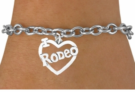 "<bR>               EXCLUSIVELY OURS!!<Br>         AN ALLAN ROBIN DESIGN!!<BR>CLICK HERE TO SEE 120+ EXCITING<BR>   CHANGES THAT YOU CAN MAKE!<BR>              LEAD & NICKEL FREE!!<BR>         W612SB - ""I LOVE RODEO""<Br>     & BRACELET AS LOW AS $4.50"