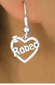 "<bR>               EXCLUSIVELY OURS!!<Br>         AN ALLAN ROBIN DESIGN!!<BR>CLICK HERE TO SEE 120+ EXCITING<BR>   CHANGES THAT YOU CAN MAKE!<BR>              LEAD & NICKEL FREE!!<BR>        W612SE - ""I LOVE RODEO""<Br>    & EARRINGS FROM $4.50 TO $8.35"