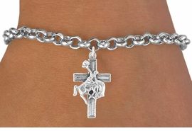 <bR>                EXCLUSIVELY OURS!!<Br>          AN ALLAN ROBIN DESIGN!!<BR> CLICK HERE TO SEE 120+ EXCITING<BR>    CHANGES THAT YOU CAN MAKE!<BR>               LEAD & NICKEL FREE!!<BR>W613SB - BUCKIN BRONCO CROSS<Br>      & BRACELET AS LOW AS $4.50