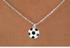 <bR>               EXCLUSIVELY OURS!!<Br>         AN ALLAN ROBIN DESIGN!!<BR>CLICK HERE TO SEE 120+ EXCITING<BR>   CHANGES THAT YOU CAN MAKE!<BR>              LEAD & NICKEL FREE!!<BR>   W618SN - SMALL SOCCER BALL<BR>     & NECKLACE AS LOW AS $4.50