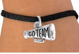 "<bR>                 EXCLUSIVELY OURS!!<Br>           AN ALLAN ROBIN DESIGN!!<BR>  CLICK HERE TO SEE 120+ EXCITING<BR>    CHANGES THAT YOU CAN MAKE!<BR>               LEAD & NICKEL FREE!!<BR>W624SB - ""GO TEAM!"" MEGAPHONE<Br>       & BRACELET AS LOW AS $4.50"